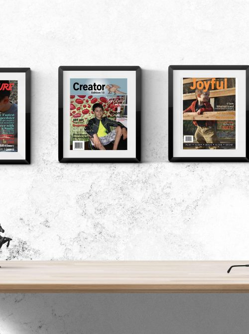 Framed Team clubhouse magazine