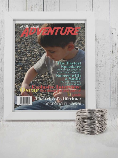 Framed Adventure magazine